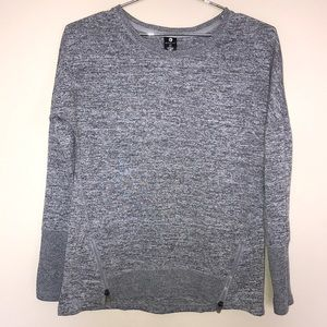 Active Life Gray Sweater With Zipper Detail Sz Med